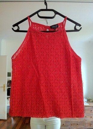 Kaufe meinen Artikel bei #Kleiderkreisel http://www.kleiderkreisel.de/damenmode/kurzarmlig/138451172-topshop-top-in-rot-mit-blumenmuster