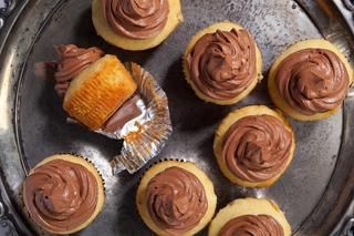 Moist Yellow Cake with Bittersweet Chocolate Frosting Recipe