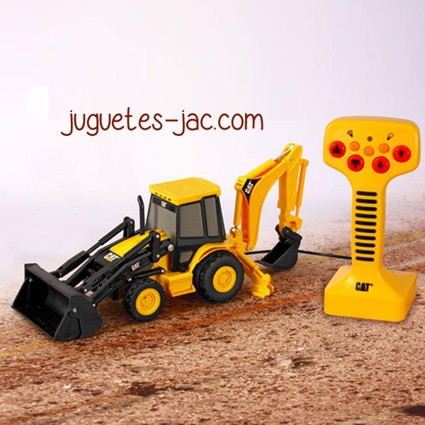 Tractor excavadora con mando de cable, sonidos y movimientos.