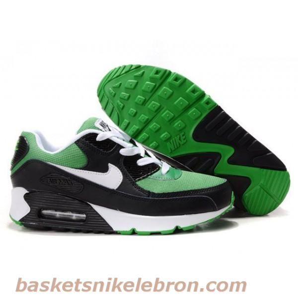promo code bd57a fae87 ... Hommes Nike Air Max 90 Premium Noir Blanc Vert Air Max Femme ...