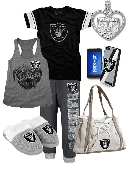 Cute Women's Oakland Raiders Gear. I am madly in love with this outfit!!!