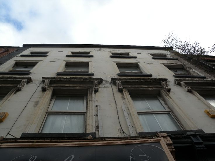 The old Fanagan's Funeral Directors building on east side of Aungier Street