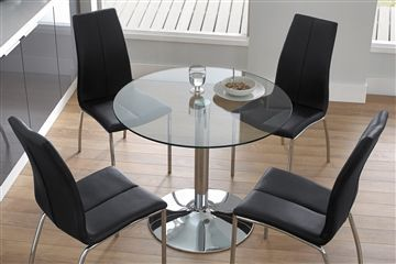 Buy Opus Black Round Glass Dining Set from the Next UK online shop
