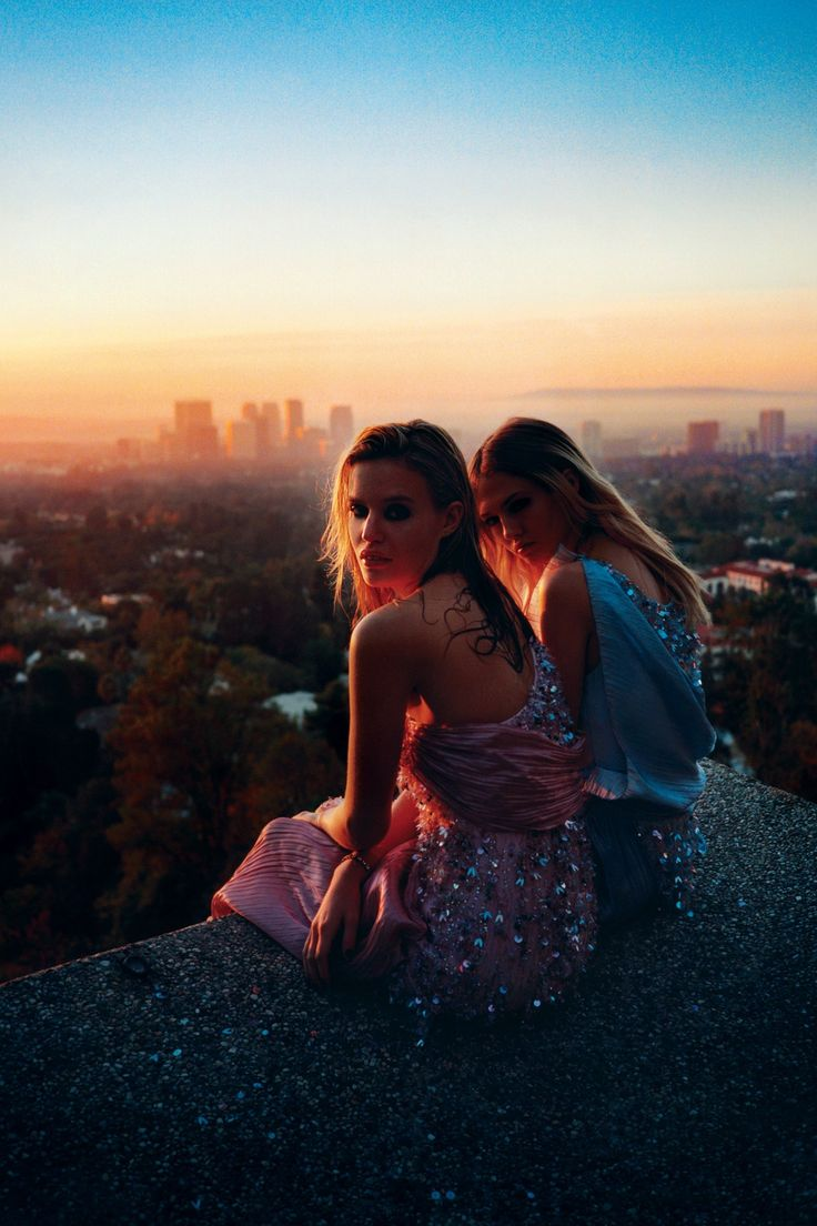 """JOIN Georgia May Jagger and Charlotte Free on a glittering night out in LA, as photographer Tyrone Lebon shares a beautiful fashion film of his shoot """"Paradise City"""", from the March issue of Vogue."""