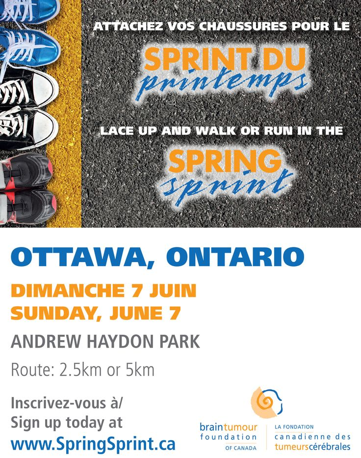 Jun 7, 2015. Andrew Haydon Park, Ottawa, ON. Attachez vos chaussures pour le Sprint du Printemps. Lace up and walk or run in the Spring Sprint. http://www.springsprint.ca/site/TR?fr_id=1213&pg=entry