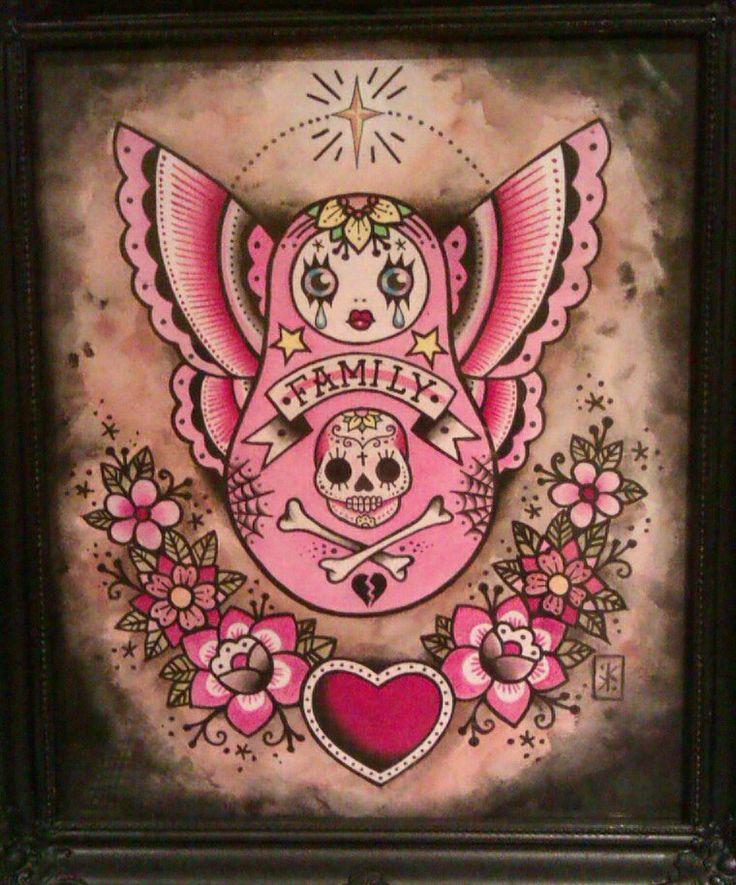 matryoshka doll tattoo