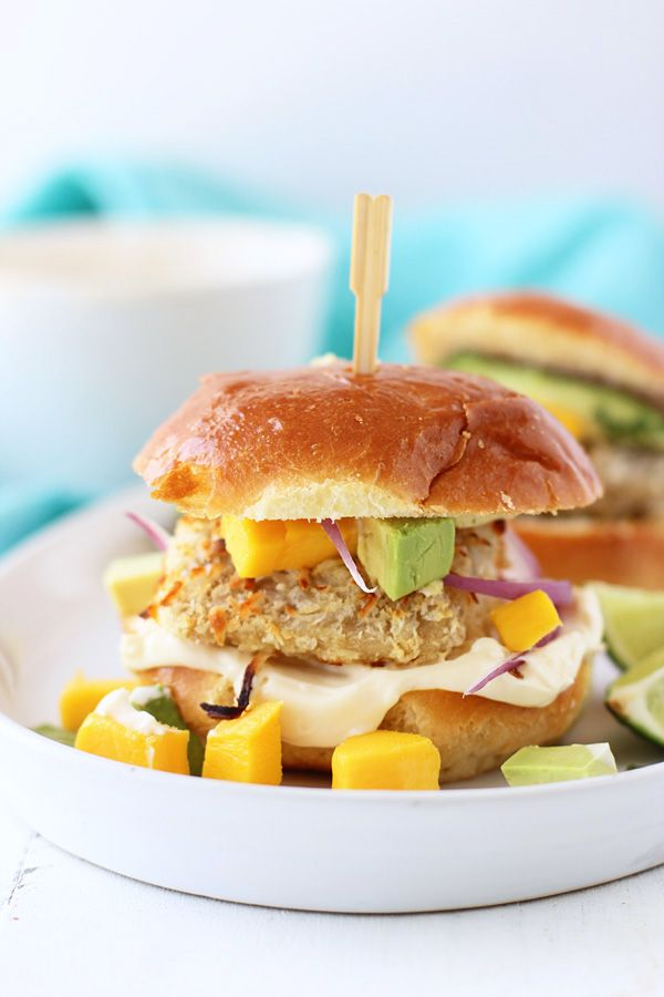 Coconut Crusted Mahi Mahi Sliders with Avocado, Mango and Lime Aioli ...