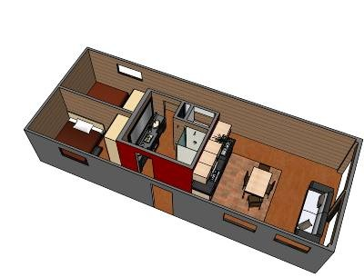 Container house 2 8 x 40 shipping containers pinterest house shipping container houses - Bithcin shipping container house ii ...
