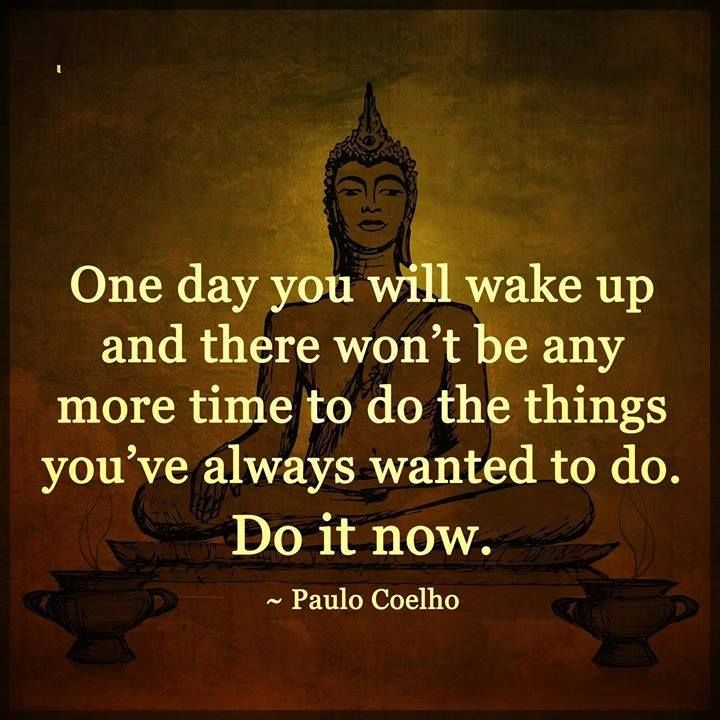 One day you'll wake up ...