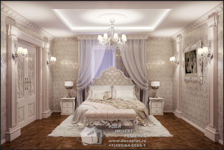 Рококо в интерьере спальни. Фотогалерея интерьеров внутри 2015, современные идеи