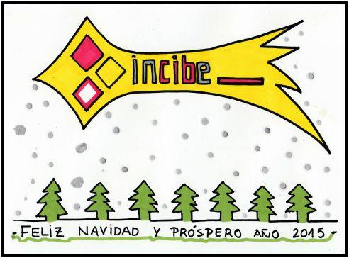 Boceto felicitación de navidad Estrella y abetos #xmas #doodle