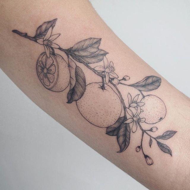 Image Result For Orange Blossom Tattoo Tattoos Tattoo People Fruit Tattoo