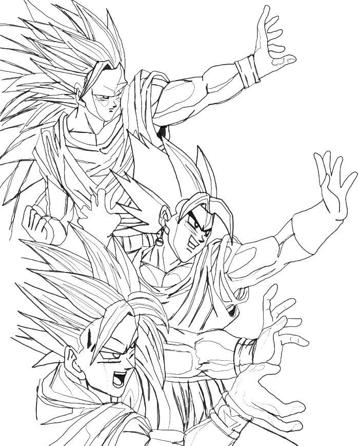 super saiyan goku coloring pages - Dbz Coloring Book
