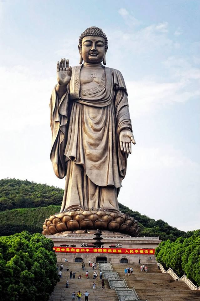Spring Temple Buddha - Lushan, China -               The tallest statue in the World is 128 height and costed around 55 million dollars.
