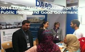 2014 DAAD Master Scholarships for Public Policy and Good Governance ,and applications are submitted till 31st July 2014. DAAD (German Academic Exchange Service) is funding master scholarships in Public Policy and Good Governance at German institution in Germany. - See more at: http://www.scholarshipsbar.com/2014-daad-master-scholarships-for-public-policy.html#sthash.8DjxJ0Tm.dpuf