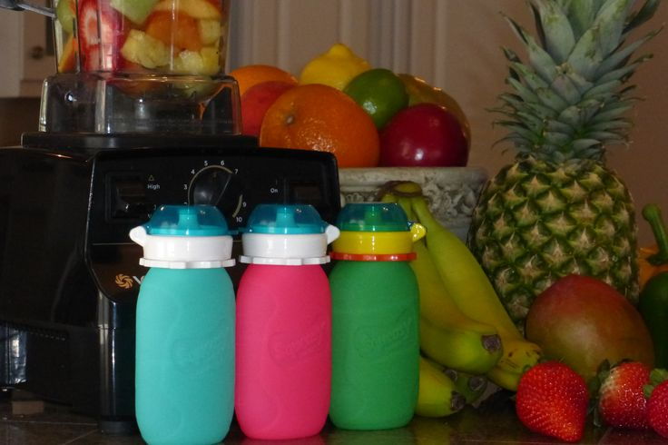 Squeasy Snacker #Reusable food pouch is great for healthy, yummy #smoothies and much more. Use the no spill insert or remove for free flow. Dishwasher and freezer safe. Even turns inside out for cleaning! 100% food grade silicone. BPA, PVC, and Phthalate Free! #Best reusable food pouch.