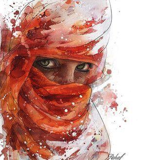 Woman portrait by illustrator Rahaf Dk Albab @rahaf_dk_albab Syria.  Портрет женщины в исполнении иллюстратора из Сирии Рахаф Альбаб.  #иллюстрация #искусство #графика #холст #арт #выставки #art #illustration #pencil #artsy #drawing #draw #digitalart #mixedart #sketchbook #graphic #exhibitions #timetoart