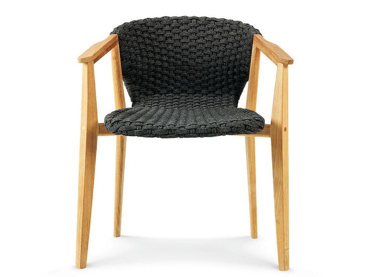 KNIT Sedia con braccioli by Ethimo design Patrick Norguet