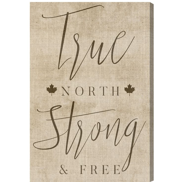Oliver Gal Canadian Sayings 'True North' Textual Art on Wrapped Canvas