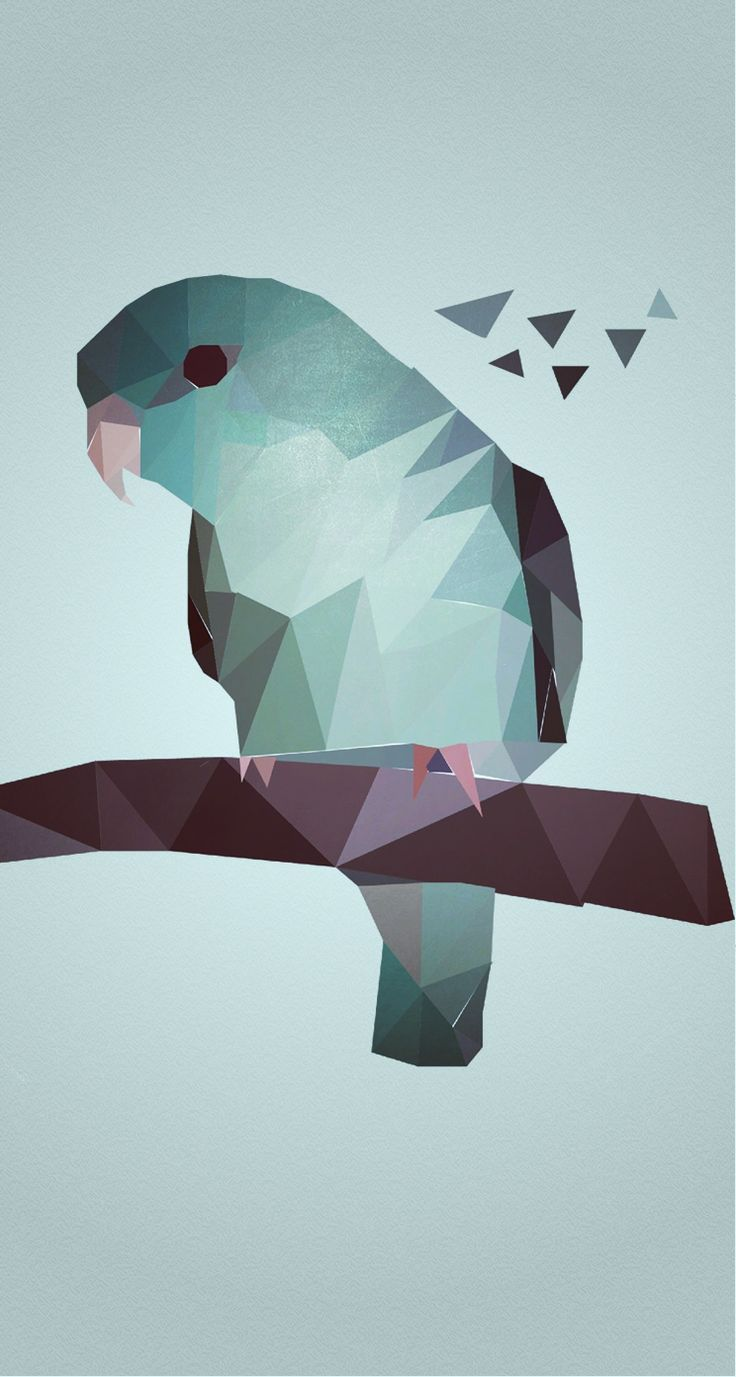 Hipster backgrounds tumblr tumblr hipster blog and backgrounds - Geometric Blue Bird Iphone Ipod Skin By Daniel Zeller Hipster Wallpaper