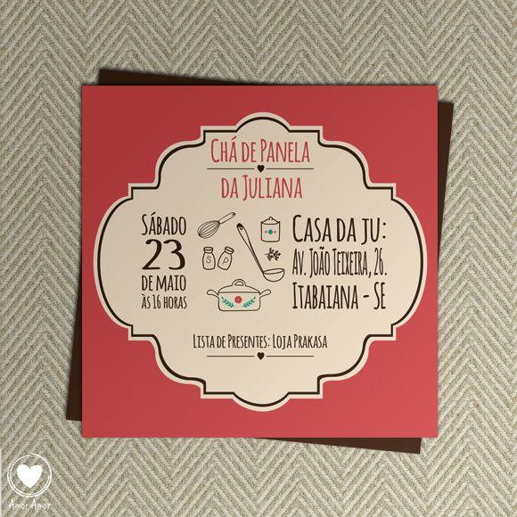 Convite de Chá de Cozinha (Digital)