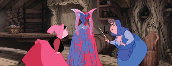 And the colour of Aurora's dress should be...