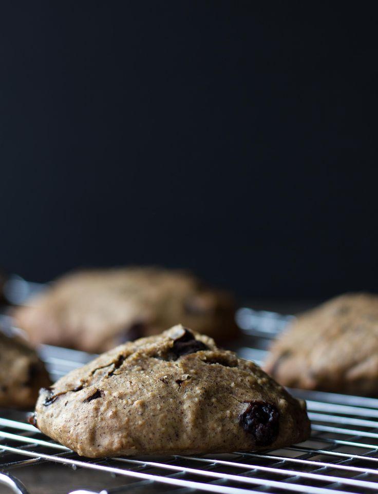 Banan og havregryn cookies med chokoladestykker -