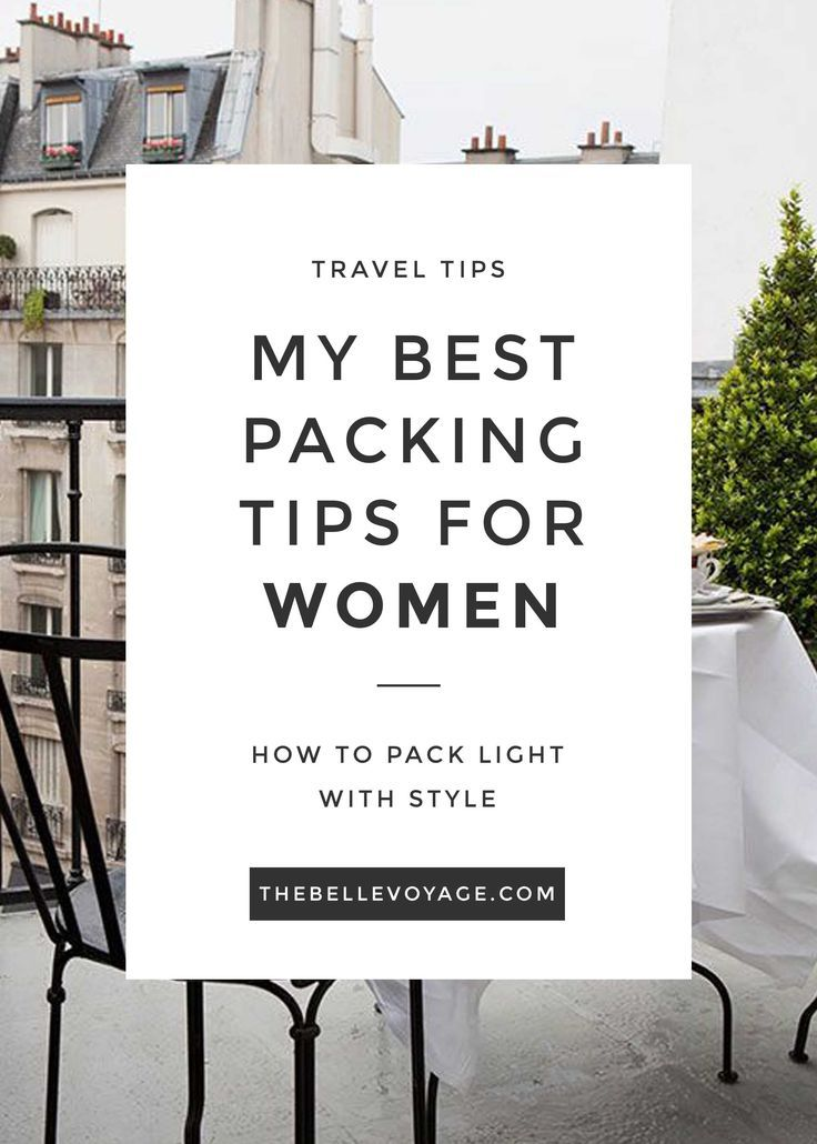 packing tips for women - packing light with style