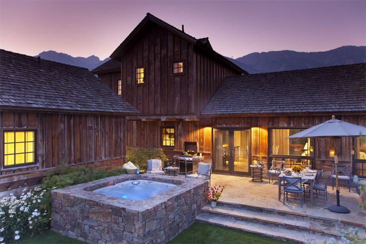Out west week shooting star cabin in wyoming by jane for Cabins in jackson hole