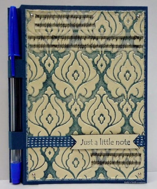 Covered note pad-BaRb-BaRb'n'ShEllcreations