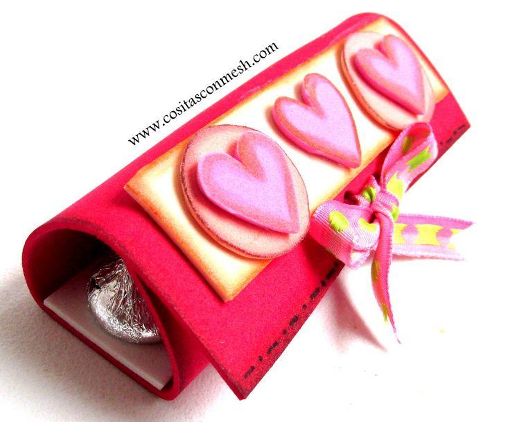 Manualidades fáciles para día de los enamorados -san valentin .14 de febrero. Regala ricos chocolates .DIY