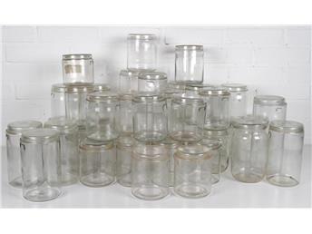 Vintage konserveringsburkar i glas - Målerås Glasbruk AB