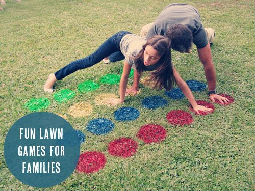 Outdoor games for families! Outside twister and oversized Jenga sound like the