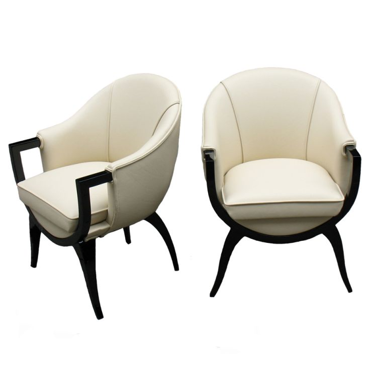Pair of Oustandingly Designed French Art Deco Bergeres