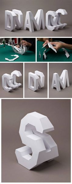 Click for more pics!   Lo Siento Creates #4D Typography Handcrafted in Paper #paper #type #typography