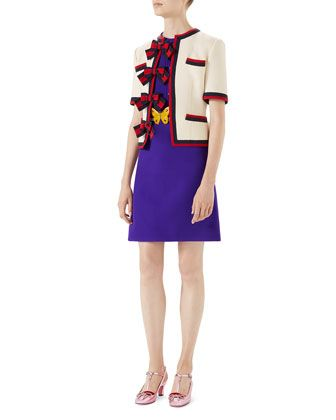 4128a113229 Wool-Silk+Pintuck+Dress+with+Belt+and+Matching+Items+by+Gucci +at+Neiman+Marcus.