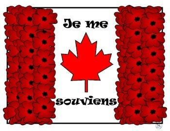 Jour du souvenir - Remembrance Day craft and colouring page