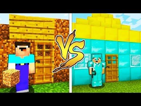 Minecraft Noob Vs Pro House Battle In Real Life Animation Realistic Minecraft Noob Real Life Minecraft