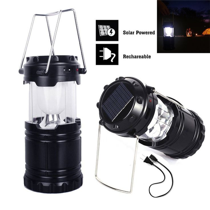 snowshine3 #3001 6 LED Portable USB Solar Light Rechargeable Lantern Outdoor Camping Hiking Lamp free shipping dd