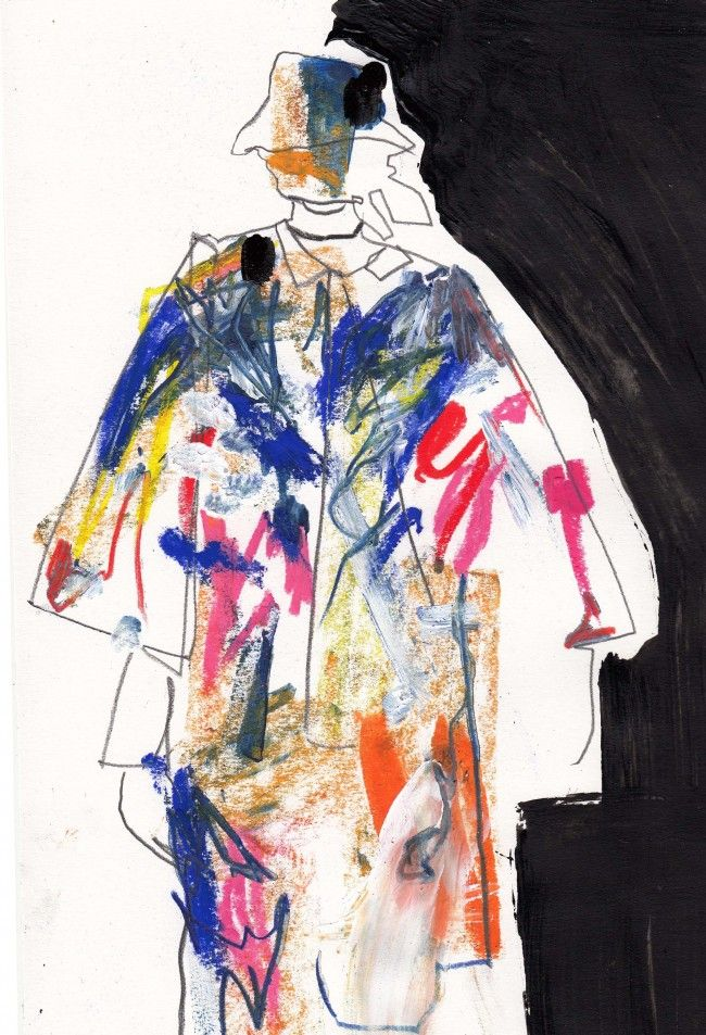 Helen Bullock illustrates the first day of London Collections: Men  http://usedmagazine.co.uk/post/2159