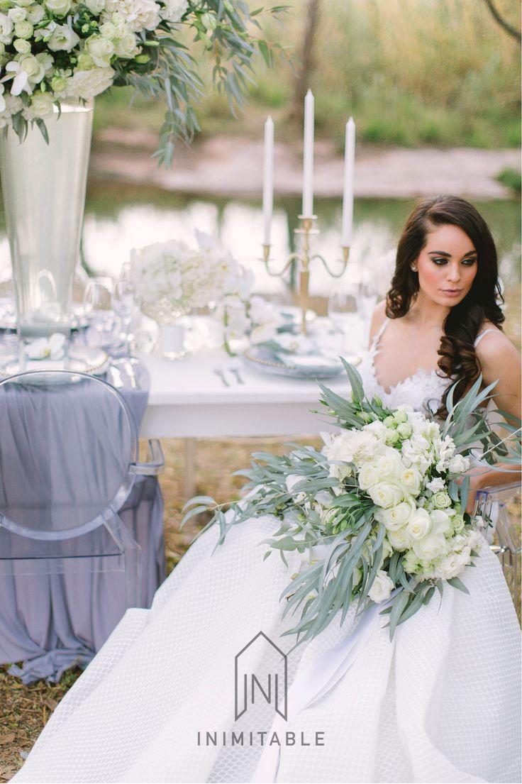 Stunning bride, wedding dress  Photography: @genevieve_fundaro  Hair and Make-up: @refinerythe  Dress: @calegrabridal  Floral Design: @zavionkotzeeventscompany  Venue: @inimitable_wv   #luxury #luxuryvenue #luxeweddings #luxewedding #flowerwall #allwhite #bride #bridal #floraldesign #bouquet wedding day, luxury, bride, bridal work, floral decor