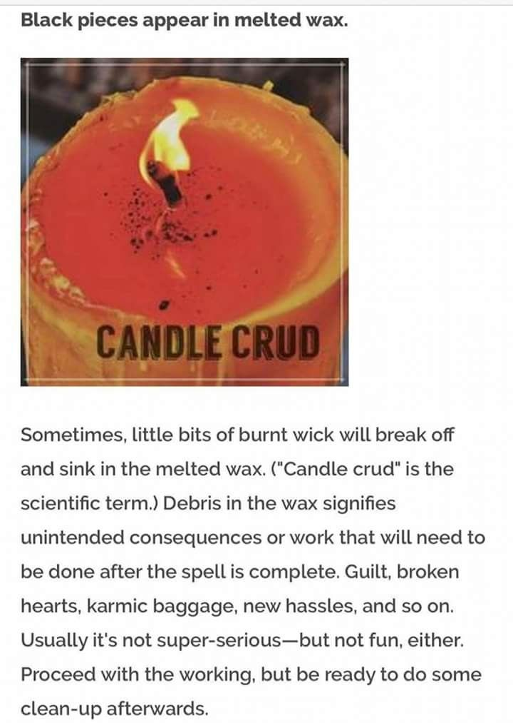 Candle crud | Witchery | Magick, Wiccan spells, Wicca