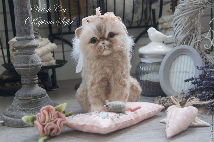 Купить Ангелочек Мусечка - бежевый, котенок, котангел, мишка тедди, Портретная копия, подарок дочери