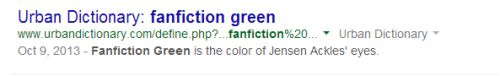 Fanfiction Green.