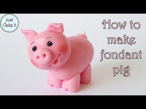 How to make fondant pig - CakesDecor