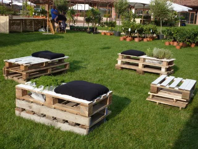Benches and planters