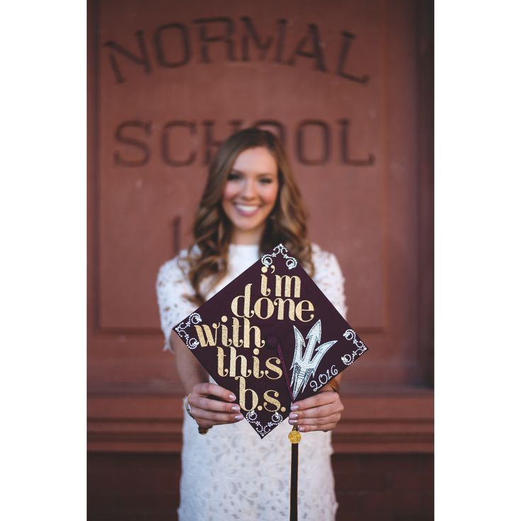 Arizona State University 2016 grad cap