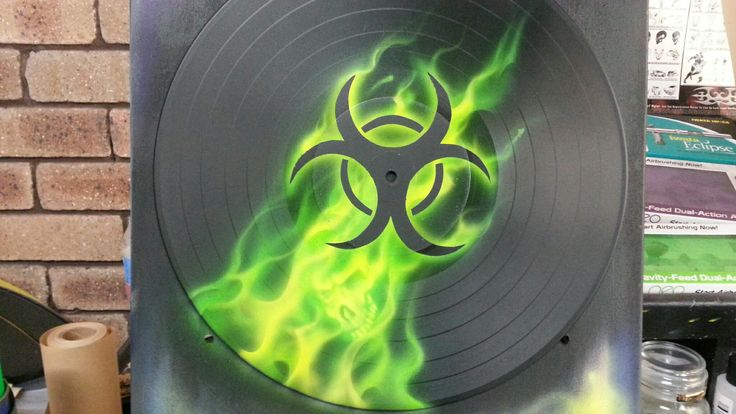 Toxic Airbrushed Vinyl Record