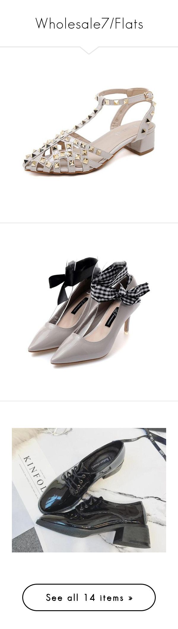 """""""Wholesale7/Flats"""" by lee77 ❤ liked on Polyvore featuring shoes, sandals, flats, flat pumps, platform shoes, flat shoes, flat heel shoes, square-toe ballet flats, black shoes and round cap"""