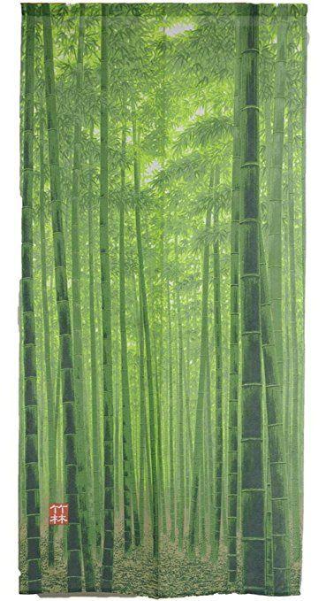 Arie(アーリエ) のれん 竹林 85×170cm グリーン